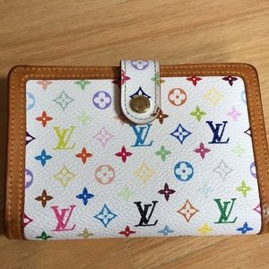 Louis Vuitton White Murakami wallet